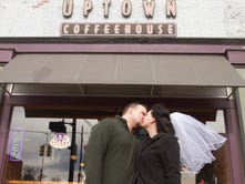 Love birds tie the knot at Howell coffee shop