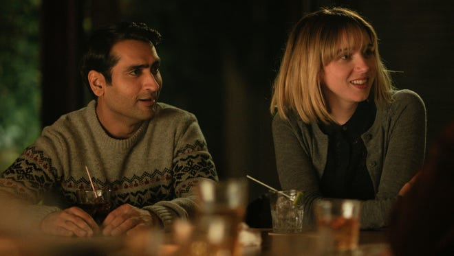 "Kumail Nanjiani (left) and Zoe Kazan star in ""The Big Sick."""