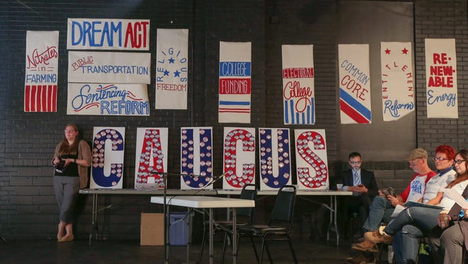 Scores of voters and potential voters showed up during the Most Important Damn issue Mockus, a Republican-style caucus held at the Des Moines Social Club on Oct. 20.