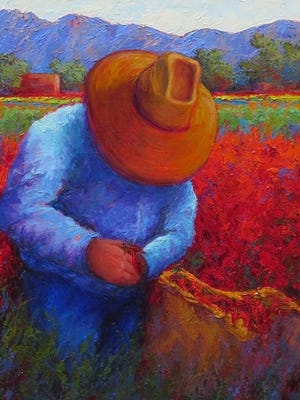 The story of the Braceros in Luna County depicted in paintings by Jeri Desrochers.