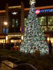 The holiday Christmas Tree at The Shops at Nanuet in