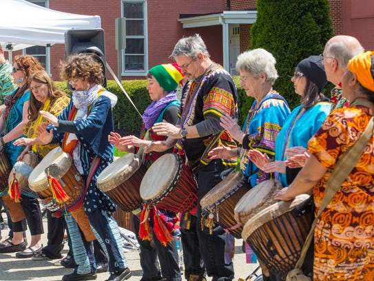 Drummers performed at a past Earth Day Festival in