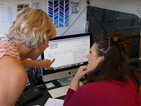 Katherine Monday (right) is working to consolidate