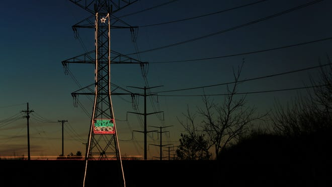 ITC will be lighting 10 of its transmission towers, including two in St. Clair County, for the holiday season.
