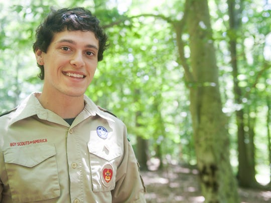 Eagle Scout candidate 17-year-old Dave Mosko, of Marlton, is working to extend a handicap accessible path in the Old Orchard Trails in Cherry Hill. Mosko needs to complete the project to become an Eagle Scout.