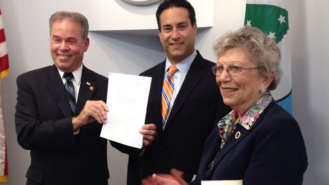Rockland County Executive Ed Day and Legislators Alden Wolfe and Harriet Cornell announced the formation of a task force on water resource management.