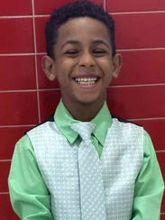 Gabriel Taye, who was 7 in this photograph, was a third-grader