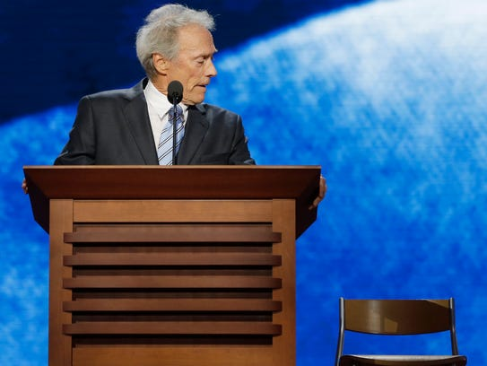 Actor Clint Eastwood addresses the Republican National
