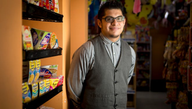 """Wed., March 1, 2017: Mauricio Vivar, 20, has been having conversations with his parents, who are undocumented about who to do if they are deported. Viva, who has legal status through Deferred Action for Childhood Arrivals, known more widely as DACA or as the """"Dreamers"""" program, would likely become legal guardians for his 14, 11, and 4-year-old siblings who are U.S. citizens."""