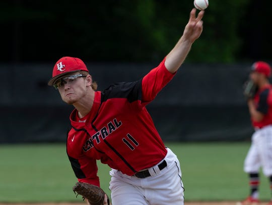 Hunterdon Central Pitcher Joey DeChiaro. Hunterdon