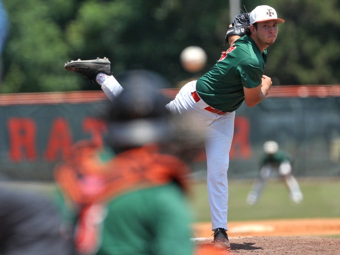 FAMU's Thomas Nicoll pitches against NCA&T at Moore-Kittles