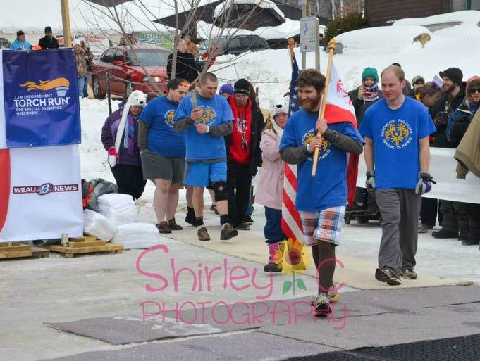 A Polar Plunge was held in Menomonie on Saturday, February 8, 2014.