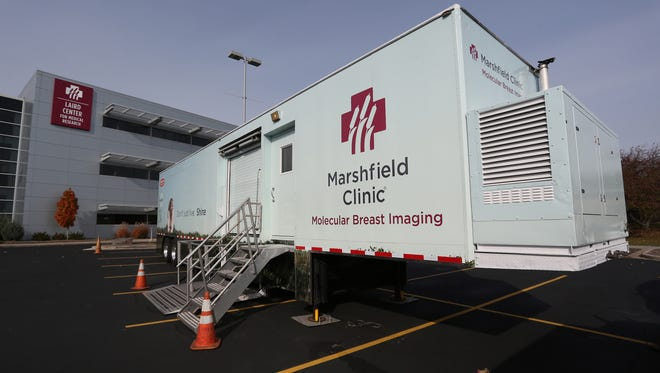 Marshfield Clinic showed off its new mobile molecular breast imaging unit, Tuesday, October 27, 2015, at its Marshfield campus.