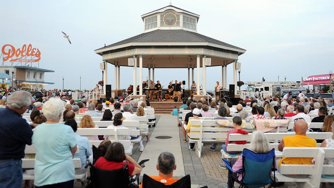The Rehoboth Beach Bandstand will offer concerts Friday, Saturday and Sunday nights this summer.