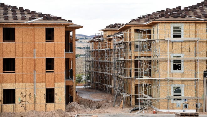 Shown are The Vineyards at Galleria apartments under construction on Disc Drive near Pyramid Highway in Sparks on August 16, 2017.