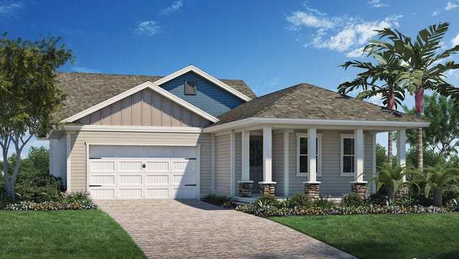 An artist's conception of Florida Lifestyle Homes' new Sydney model at Babcock Ranch.