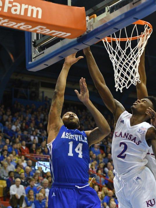 NCAA Basketball: NC-Asheville at Kansas
