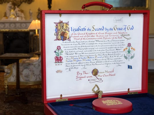 "The ""Instrument of Consent,"" which is Queen Elizabeth"