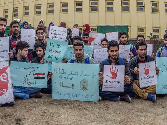 Protests in Solidarity with Aleppo Swelled