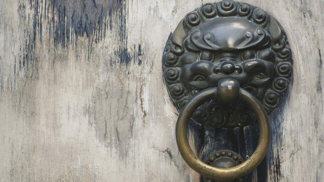 Antique door ring.
