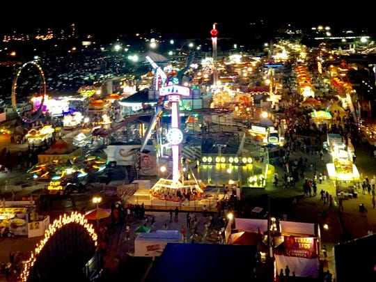 The State Fair of Louisiana (taken from the Ferris wheel)!
