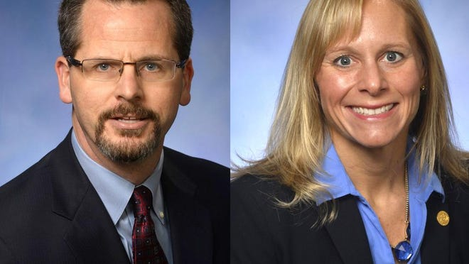 Michigan Reps. Todd Courser, R-Lapeer, and Cindy Gamrat, R-Plainwell.