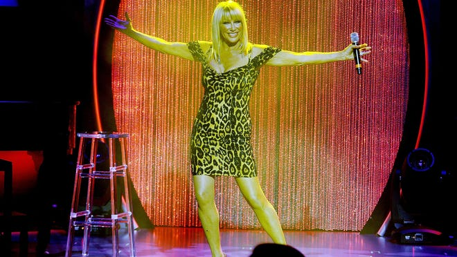 Suzanne Somers performs during her Las Vegas residency show grand opening at Westgate Hotel and Casino on May 23, 2015 in Las Vegas.