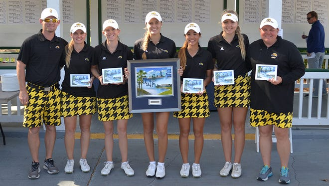 The Southern Miss women's golf team took the top spot at the UNF Collegiate golf tournament in Jacksonville, Florida.