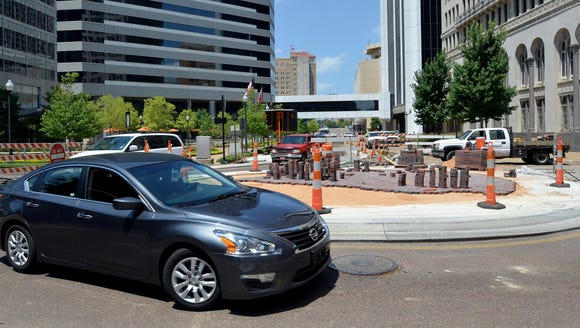 A roundabout is now part of the Capitol Street improvements