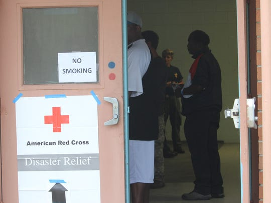 A storm shelter opened in North Charleston on Sunday afternoon. Within two hours, 17 residents had checked into the shelter.