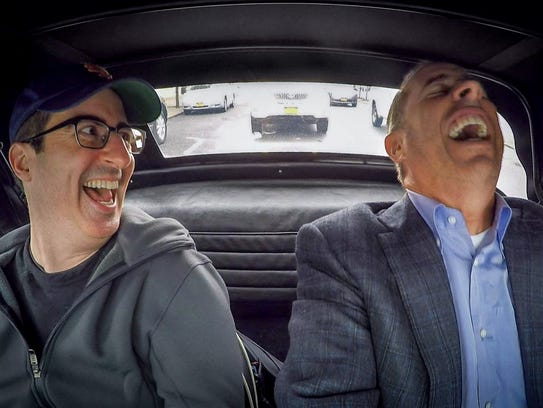 Comedian John Oliver cracks up Jerry Seinfeld in the