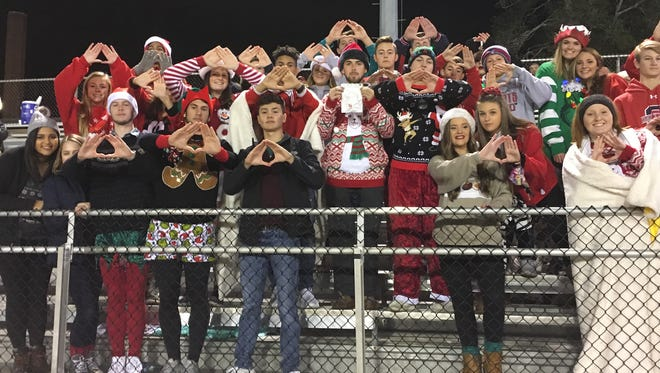 Oakland students made the trek to Maryville for the 6A state semifinals Friday on November 24, 2017.