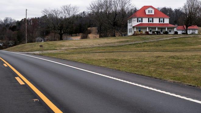 A home along Gov. John Sevier Highway on Wednesday, February 14, 2018.