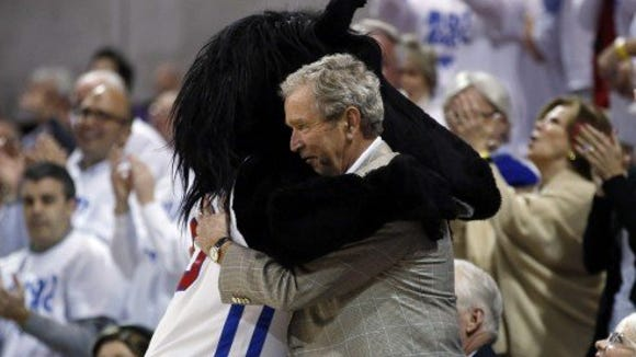 George Bush's friendship with the 'Stang might just keep SMU in the tournament field.
