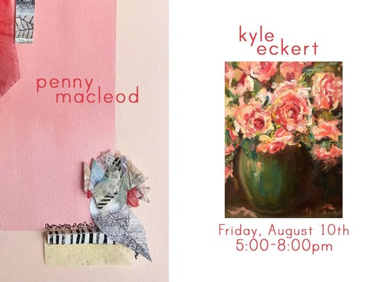 Art opening for Penny Macleod and Kyle Eckert is Friday at the Rumjahn Gallery in downtown Evansville.