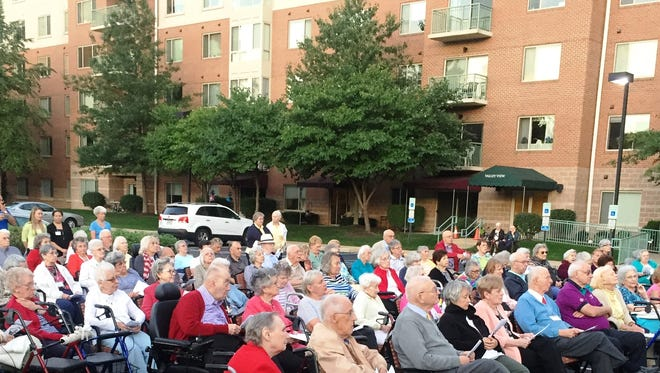 Residents of Cedar Crest Retirement Community at the annual 9/11 Remembrance ceremony on Sunday.