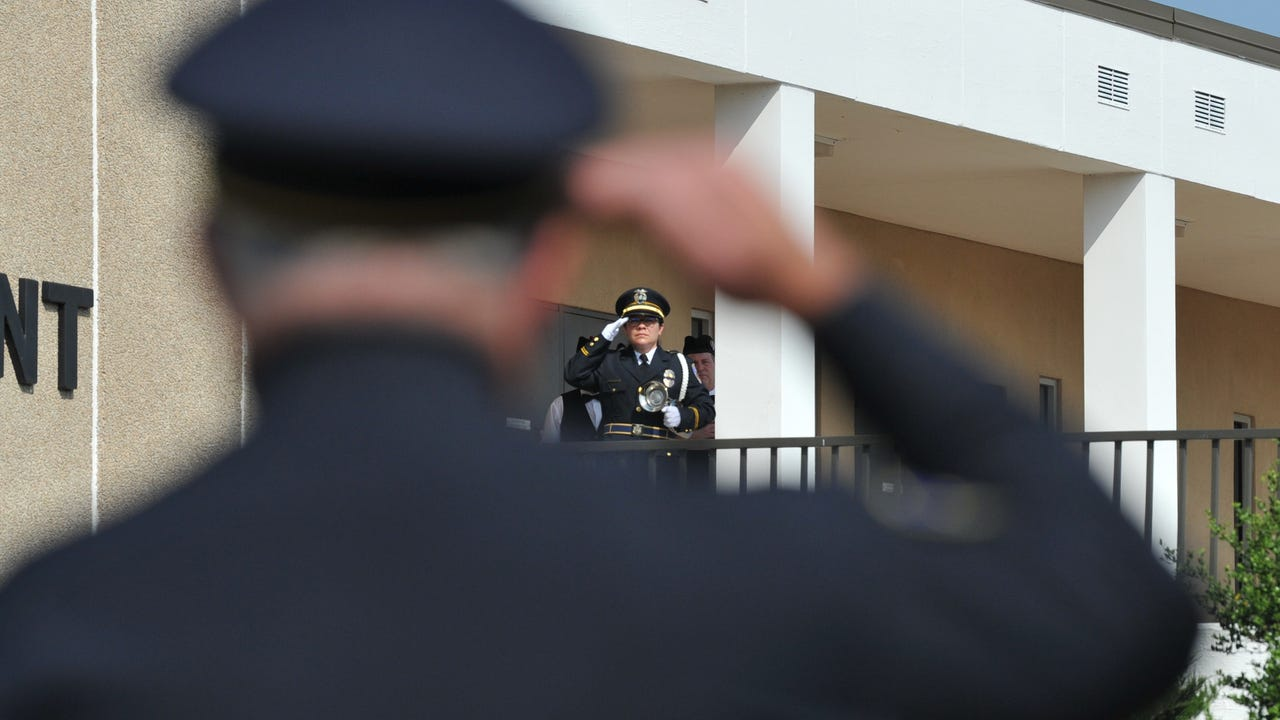 Wichita Falls police honored fallen officers during their annual Police Memorial Service held in front of Police Headquarters Monday morning.