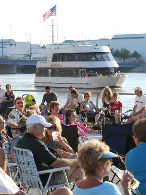 The Foxy Lady cruises the Fox River during an event at the CityDeck in downtown Green Bay on July 23, 2010.
