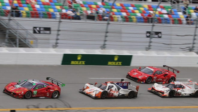 Expect tight racing like this for the WeatherTech 240 at Daytona International Speedway.