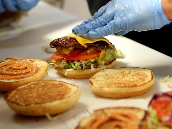November 3, 2016 - At the Sear Shack burgers are made
