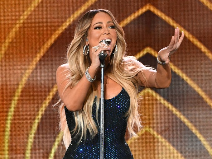 Mariah Carey performs onstage during the 2018 iHeartRadio