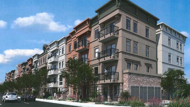 A plan from Wood Partners, an Atlanta-based apartment-developer and -management firm, calls for 273 apartments on 5.4 acres of land along the south side of Chandler Boulevard and just west of  Dakota Street.