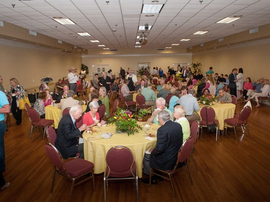 VIP Guests enjoyed good food and music inside the Gold Room of Whitley Hall before the Montgomery Rotary Club's FunnyRaiser at the Davis Theatre (Contributed)