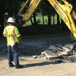 City of Norfolk crews believe extreme heat cause part of Terminal Boulevard to buckle June 16, 2015.