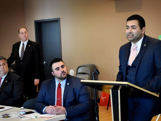 Union County Freeholder Chairman Sergio Granados, joined