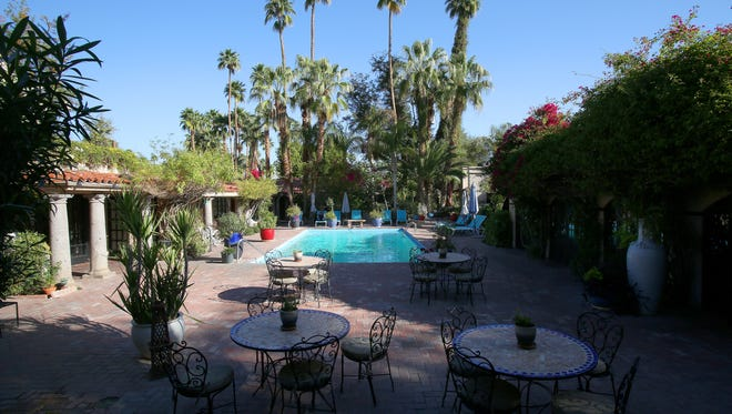 The Villa Royale Inn is a 32-room boutique hotel in Palm Springs.