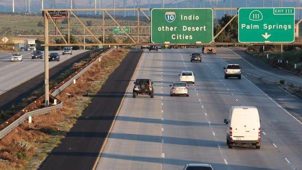 East bound I-10 seen from Haugen Lehman Way on Wednesday.