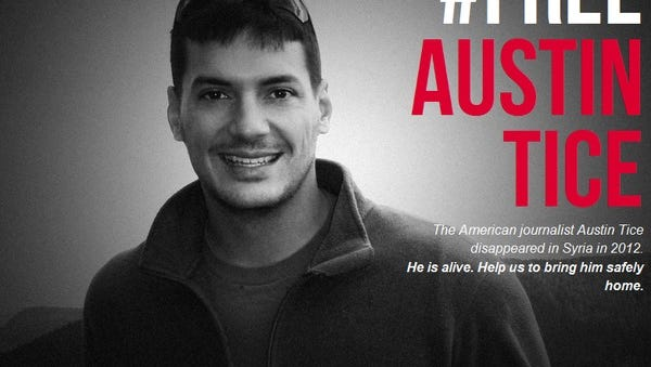 This poster is being circulated on Twitter and elsewhere by the #FreeAustinTice Campaign