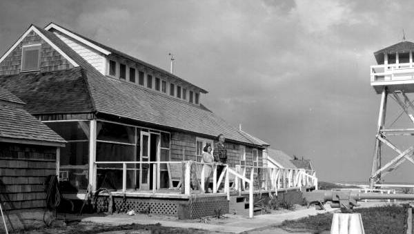 Gilbert's Bar House of Refuge photographed in 1965, two decades after the facility was no longer in service.