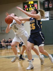 Hartland's Lexey Tobel (right) is a great scorer, but